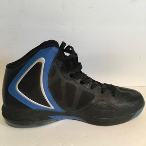 Andi Mens Basketball Shoe high top blue Blk Sz 8.5